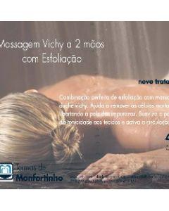 Massagem Vichy a 2 mãos com Esfoliação